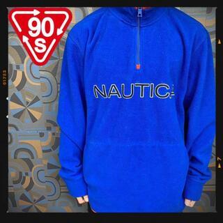 ノーティカ(NAUTICA)のノーティカ NAUTICA ハーフジップフリース 青 ブルー スナップT(スウェット)