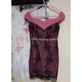 dazzy store - くすみピンクキャバドレス キャバクラ ラウンジ オフショル ピンク 上品