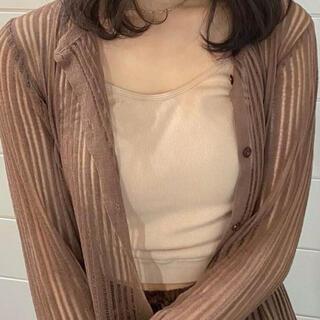 Kastane - lawgy pleats cardigan ブラウン