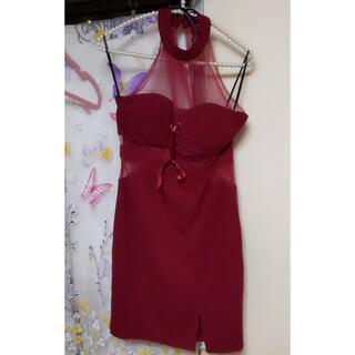 デイジーストア(dazzy store)の赤 ボルドー ワインレッド スリット入りキャバドレス キャバクラ ラウンジ(ナイトドレス)