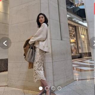 リエンダ(rienda)の最終値下げ リエンダ レーススカート 大人気完売品(ひざ丈スカート)