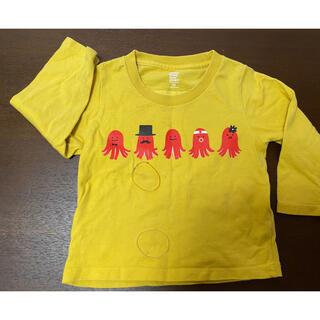 Design Tshirts Store graniph - グラニフ ウインナー シャツ 80(90) 黄色 中古