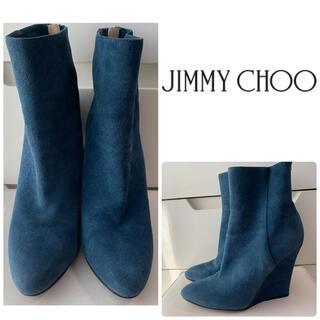 JIMMY CHOO - ジミーチュウ ブルースエード ブーツ