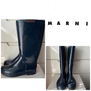 マルニ(Marni)のマルニ ネイビーラバー レインブーツ(レインブーツ/長靴)