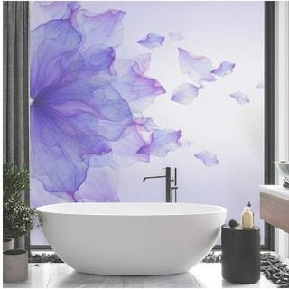 Francfranc - 美しい青と紫の花のガラス用フィルム 【1519】