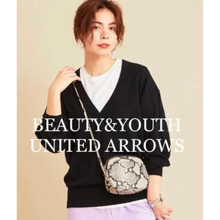 BEAUTY&YOUTH UNITED ARROWS - BEAUTY&YOUTH UNITED ARROWS パイソン柄 レザーバッグ