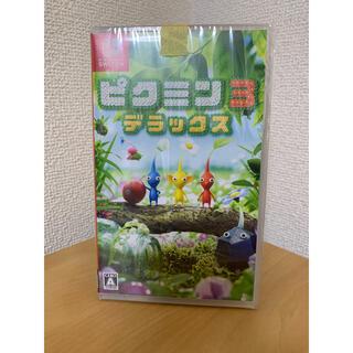 ニンテンドースイッチ(Nintendo Switch)の【新品未開封】ピクミン3 デラックス 任天堂 Switch ストラップ付き(家庭用ゲームソフト)