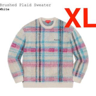 シュプリーム(Supreme)のsupreme Brushed Plaid Sweater ニット キムタク(ニット/セーター)
