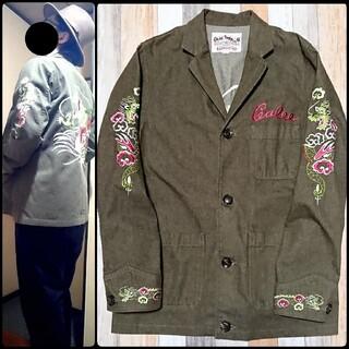 CALEE❇️刺繍 カバーオール テーラードジャケット