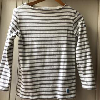 オーシバル(ORCIVAL)のオーシバルバスクシャツ ユーズド グレー1 Sサイズ(カットソー(長袖/七分))