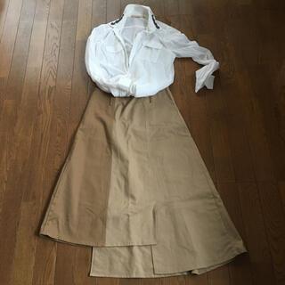 カプリシューレマージュ(CAPRICIEUX LE'MAGE)の新品 オシャレな変形スカート ブラウン(ロングスカート)