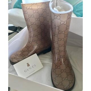 グッチ(Gucci)のGUCCI美品レインブーツ(長靴/レインシューズ)