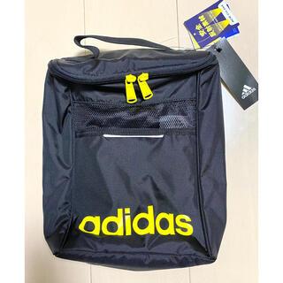 アディダス(adidas)の【新品】アディダス シューズケース シューズバッグ ブラック(シューズバッグ)