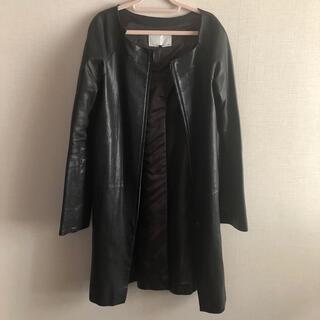 ルシェルブルー(LE CIEL BLEU)のルシェルブルー ENCHANTEMENT... ?  レザーコート ジャケット黒(ノーカラージャケット)