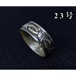 シルバー925 平打ち 柄ありリング ベルト連 silver925 8ミリ平打ち(リング(指輪))