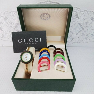 Gucci - GUCCI 腕時計 チェンジベゼル 稼働中 t256