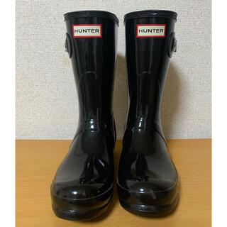 ハンター(HUNTER)の最終価格 HUNTER レインブーツ 黒色新品(レインブーツ/長靴)
