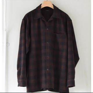 COMOLI - COMOLI ウールチェック オープンカラーシャツ サイズ2