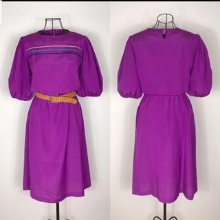 サンタモニカ(Santa Monica)の古着 used  Vintage  パープルカラーワンピース スカート(ひざ丈ワンピース)