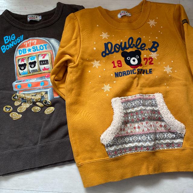 DOUBLE.B(ダブルビー)のよつば様専用 ミキハウス ダブルB 6点まとめ売り トレーナー ロンT キッズ/ベビー/マタニティのキッズ服男の子用(90cm~)(Tシャツ/カットソー)の商品写真