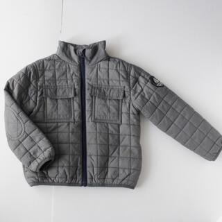 プチバトー(PETIT BATEAU)のプチバトー キルティングジャケット アウター ブルゾン グレー4ans 102(ジャケット/上着)
