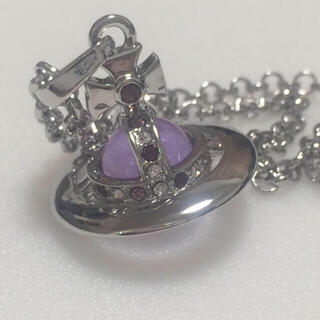 Vivienne Westwood - ヴィヴィアン タイニーオーブネックレス silver×purple