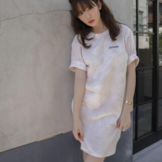 her lip to tie-dyed tee dress Tシャツ ワンピース