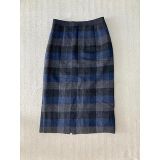 コムサデモード(COMME CA DU MODE)のコムサ チェックタイトスカート(ひざ丈スカート)