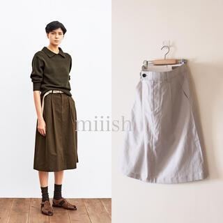 マーガレットハウエル(MARGARET HOWELL)の2020 マーガレットハウエル コットンリネンシルク Aラインスカート 3.2万(ひざ丈スカート)