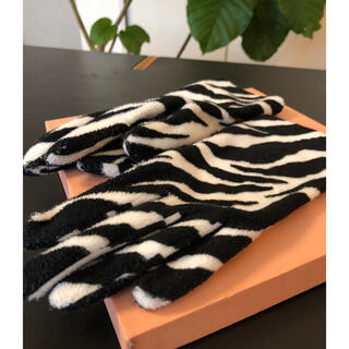 Used zebra gloves