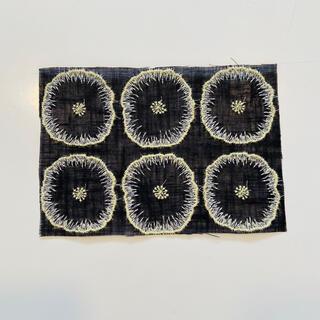 mina perhonen - 8.ミナペルホネン jelly flower ブラック はぎれ