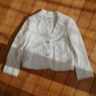 エニィファム(anyFAM)のジャケット 白 銀糸入り(ジャケット/上着)