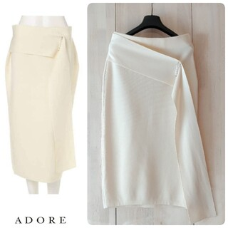 ADORE - ◆幻◆希少レア 定価3.4万円 ADORE ウールパールピン付きニットスカート