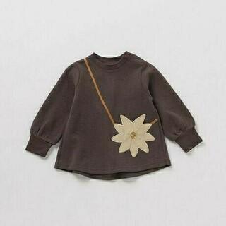 petit main - プティマイン 花ポシェット風チュニックシャツ 100