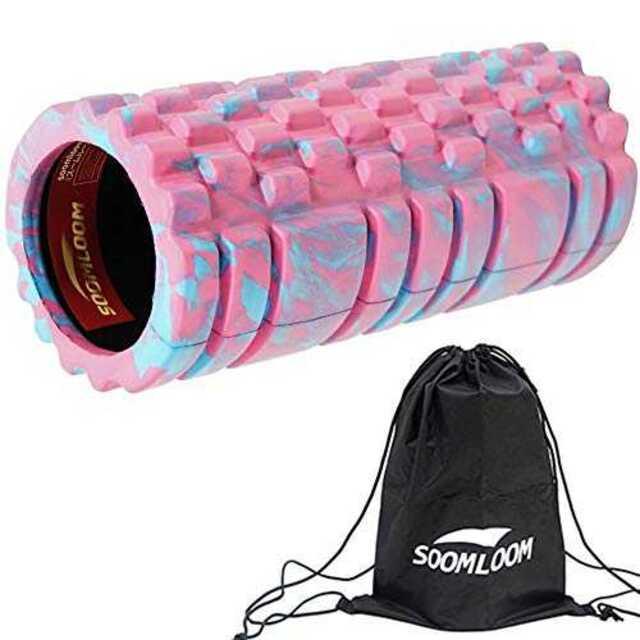ピンクグリッドフォームローラー EVA 14cm*33cm スポーツ/アウトドアのトレーニング/エクササイズ(トレーニング用品)の商品写真