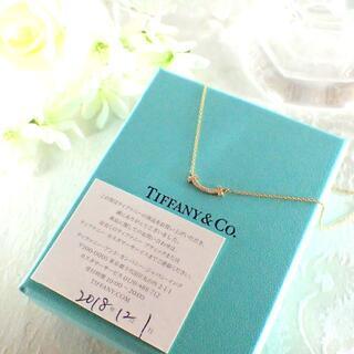 Tiffany & Co. - ティファニー TIFFANY K18PG ダイヤ Tスマイル ネックレス