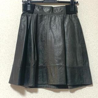 ルシェルブルー(LE CIEL BLEU)のルシェルブルー レザースカート(ひざ丈スカート)