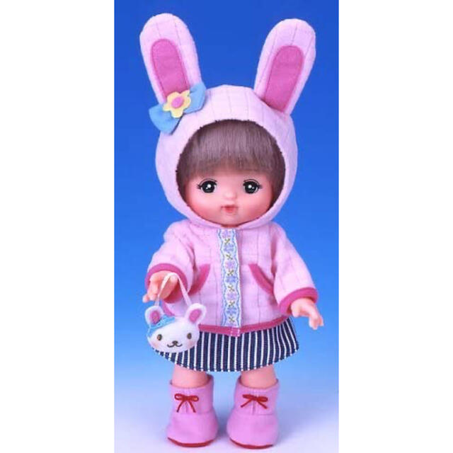 PILOT(パイロット)のメルちゃん うさぎさんフリース パーカー ストライプ スカート キッズ/ベビー/マタニティのおもちゃ(ぬいぐるみ/人形)の商品写真