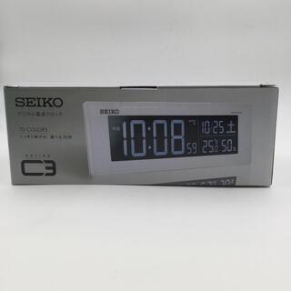 セイコー(SEIKO)の新品未使用 セイコー  クロックSEIKO デジタル電波時計 C3 DL305W(置時計)