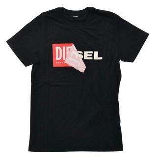 ディーゼル(DIESEL)の偽なら返金 本物保証 DIESEL TーDIEGOーQA Tシャツ 黒  L(Tシャツ/カットソー(半袖/袖なし))