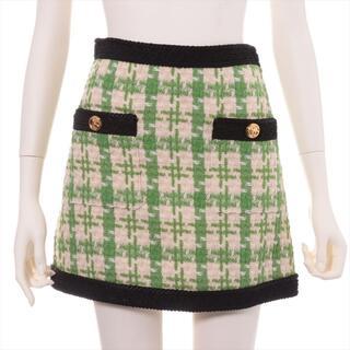 Gucci - グッチ GGマーモント ツイード 36 グリーン レディース スカート