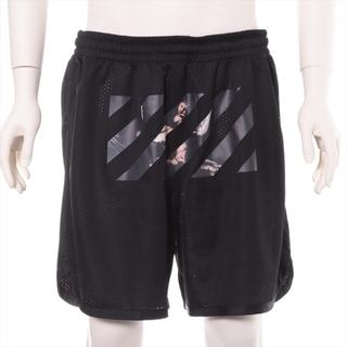 オフホワイト(OFF-WHITE)のオフホワイト  ポリエステル XL ブラック メンズ ショートパンツ(ショートパンツ)