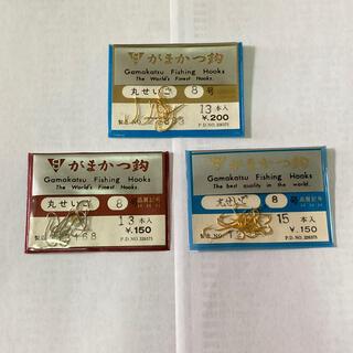 ガマカツ(がまかつ)のがまかつ製 丸せいご 8号 白 金 3袋セット(釣り糸/ライン)