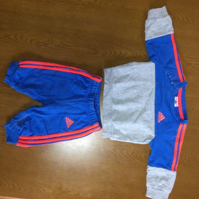 adidas(アディダス)のadidas スウェットセットアップ キッズ/ベビー/マタニティのベビー服(~85cm)(トレーナー)の商品写真