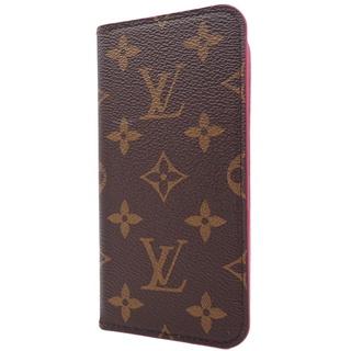 ルイヴィトン(LOUIS VUITTON)のルイヴィトン iPhoneX フォリオ ブラウン ピンク 40800061743(iPhoneケース)