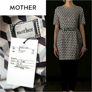mother - 未使用【mother◆マザー】幾何学柄ワンピース