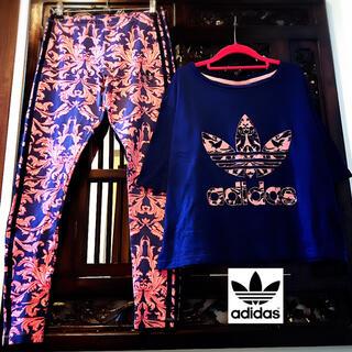 adidas - アディダス 花柄 ダマスク柄 ジャージ パンツ Tシャツ 上下 セットアップ