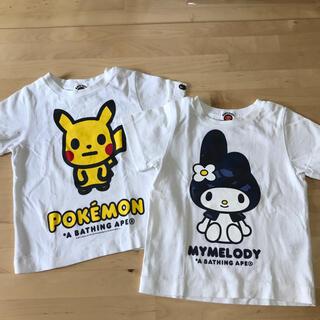 アベイシングエイプ(A BATHING APE)のベイプキッズ Tシャツ2枚セット(Tシャツ/カットソー)