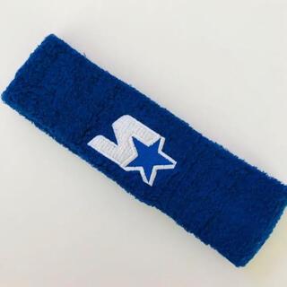 日本未発売 starter スターター ヘアバンド ブルー x ホワイト(ニット帽/ビーニー)