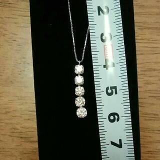 K18WG 1.00ct ダイヤモンドネックレス